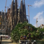 La Sagrada Familia, cathédrale en construction à Barcelone –