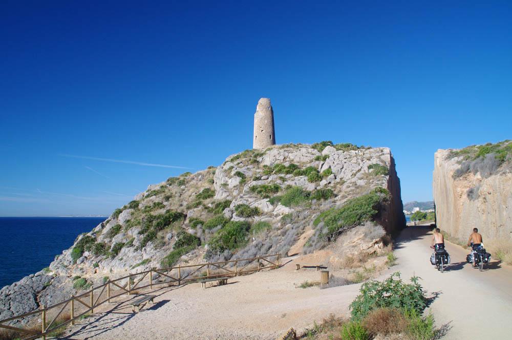 De belles pistes cyclables sur la côte espagnol