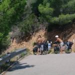 Les Pyrénées marquent nos premiers essais en montagne. Nous sommes satisfaits de notre choix du moyeu Rohloff !!! Nous ferons 60km ce jour là