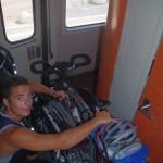 Prendre le train au Maroc avec des vélos
