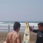 Brian nous offre une session de surf