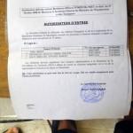 Arrivés sans visa, nous avons réussi à passer la frontière grâce à ce papier du secrétaire générale du ministère des affaires étrangères mauritanien.