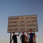 Sortie de Tiznit. Nous avons déjà roulé 2250km et sommes à mi-chemin entre la France et Saint-Louis du Sénégal.