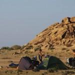 Entre Daklha et la Mauritanie. Nous bivouaquons dans de superbes spots.