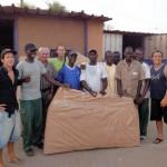 L'entreprise SDV implamtée à Dakar a eu la gentilesse de conditionner nos vélos pour le vol Dakar-Sao Paulo. Merci à toute l'équipe !!!