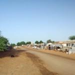 Plus nous nous approchons du Sénégal et plus nous trouvons d'habitations le long de la route. La précarité de ces maisons contraste avec les belles tenues blanches portées par les Mauritaniens.