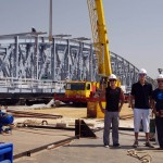 Notre séjour à Saint-Louis s'achève par la visite du chantier de réhabilitation du pont Faidherbe, ancien lieu de travail de Morgan.