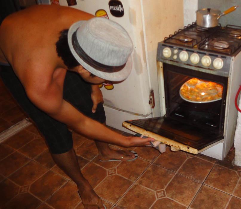 Nos hôtes nous régalent d'Empanadas maison. Plat typique de la région et que l'on retrouve dans beaucoup de pays d'Amérique du Sud. Salés ou sucrés, ce sont des chaussons farcis en forme de demie lune.
