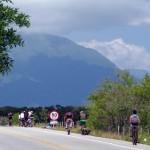 Florianopolis. D'ordinaire nous n'utilisons pas nos vélos lors des jours de repos...mais notre hôte avait organisé un tour de l'île avec une dizaine de personnes, nous ne pouvions pas rater cette occasion!