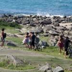 Florianopolis. Après une journée vélo, rien de tel qu'une petite baignade sur une île paisible, en compagnie de nos hôtes.