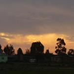 Le temps change très rapidement, et les nuages alliés au couché du soleil nous concoctent de belles fin de journée.