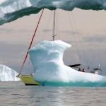Partie de slalom géant entre des icebergs à couper le souffle.