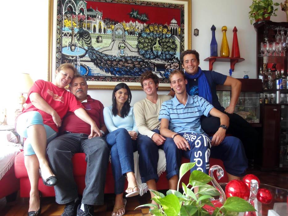 Santos, Bresil. Béatriz et ses parents nous ont fait découvrir les plats typiques du pays.