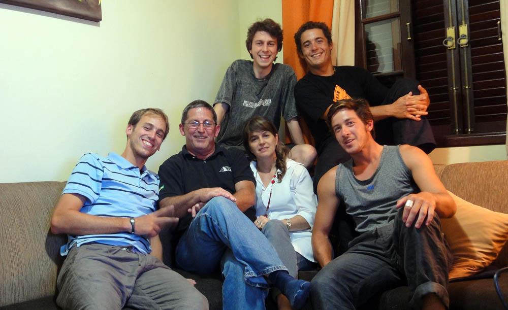 Joinville, Brésil. Eduardo et ses parents nous ont régalé de succulentes spécialités brésiliennes. La générosité des couchsurfeur est sans limites !!!