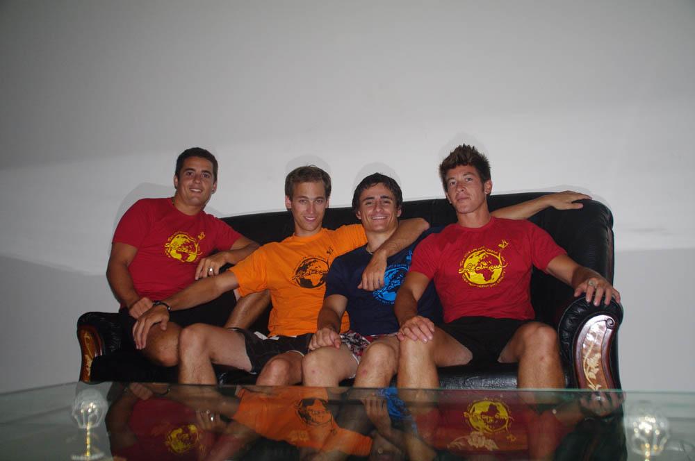 Casablanca, Maroc. Brian, Solidreamer et Solidhost !!! Vivement qu'on se retrouve au rendez vous fixé en Amérique Centrale.