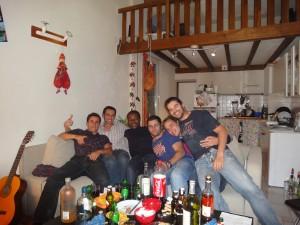 Retrouvailles entre amis à Montpellier
