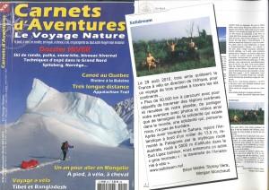 Hiver 2011-2012 Carnets D'aventures