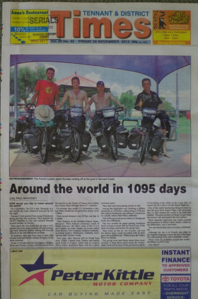 Tennant & District Times - Australia - Nov 2012