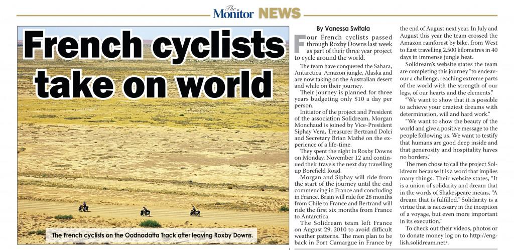 Solidream - The Monitor News - Australia - Nov 2012