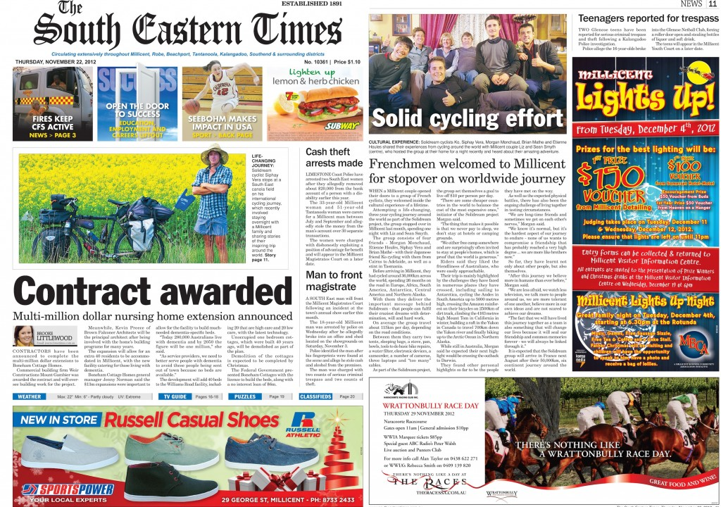 The South Eastern Times - Australia - Nov 2012