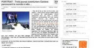Objectif Gard : trois jeunes gardois parcourent le monde à vélo