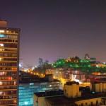 Santiago by night.