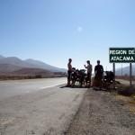 Nous approchons du célèbre désert d'Atacacma...