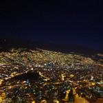 Nuestra Senora de La Paz. L'arrivée dans cette capitale fut mémorable: une vue splendide depuis El Alto et une descente de nuit incroyable se faufilant à travers le trafic de cette ville surprenante.
