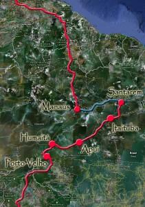 Itinéraire en Amazonie