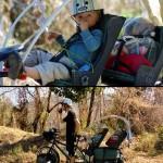 Région Michoacan. Près de 100 km après notre départ de Playa Nexpa, nous faisons la rencontre d'un couple de canadiens voyageant à vélo pour 12 mois avec leurs deux enfants âgés de 2 et 4 ans. Nous sommes impressionnés par l'aventure que cela représente, avec les nombreux risques et contraintes, mais à la fois très heureux pour cette expérience qu'ils vivent en plus de la partager en famille !
