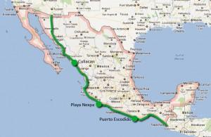 Notre route au Mexique
