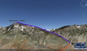 Ascencion du mont Tom par la crête Nord