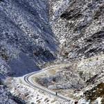 On nous avait dit que Death Valley serait impressionant, mais personne n'avait prédit la chute de neige qui rendrait le décor encore plus exceptionnel !