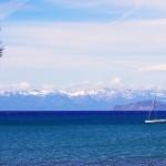 Nous voici arrivés à Lake Tahoe. L'eau du lac est réputée être une des plus claire et limpide au monde. Les plages de sable fin sur fond de montagnes enneigées en font un lieu magnifique !!!