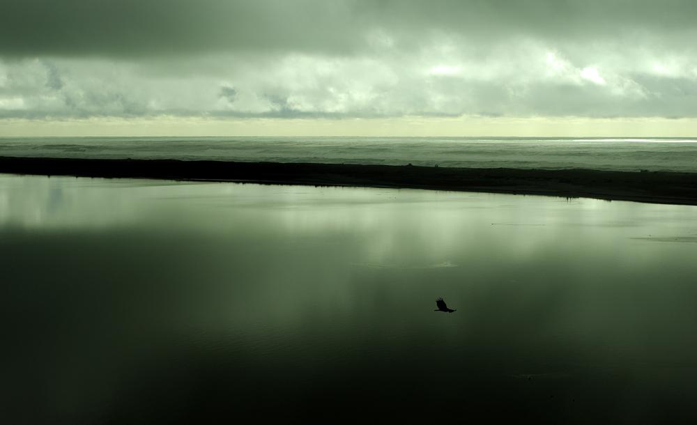 Entre les gouttes, quelques éclaircies se pointent parfois pour nous offrir un décor unique avec vue sur l'océan Pacifique.
