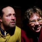 """Kai et Andrea Brian : """"Sur le chemin, nous arrivons parfois à inspirer les gens avec notre aventure. Là, ce fut une de ces rencontres par lesquelles nous sommes inspirés à notre tour. Entendre Kaï raconter ses expéditions dans l'Arctique laisse rêveur, ça me rappelait quand je lisais les histoires d'autres voyageurs à vélo avant de faire ce voyage. Peut-être ai-je trouvé là une nouvelle aventure à faire ?!"""""""
