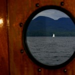 """Nous naviguons dans le """"Inside Passage"""" Pour rejoindre Prince Rupert 600km au Nord."""