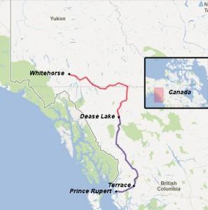 Notre trajet en British Columbia