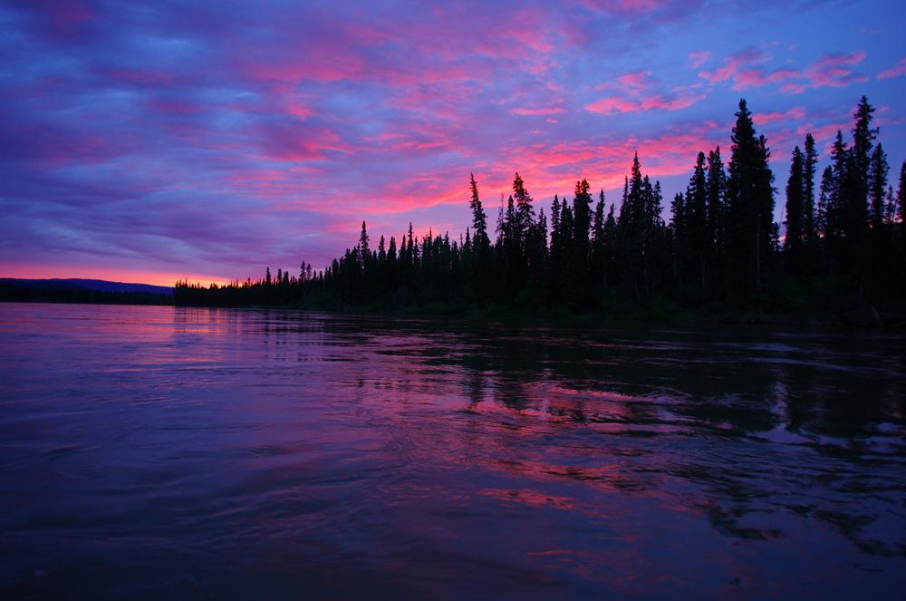 1h du matin sur la Yukon River