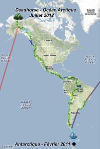 L'Amérique à vélo, de l'Antarctique à l'Arctique