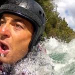 Dans une eau à environ 5ºC nous nous réjouissons d'avoir pu emprunter les combinaisons de Shaun, John, Daniel et William.