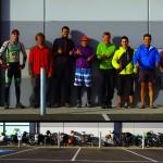 Jimmy, Markus et Nick font le tour d'Australie à vélo pour leur association LIFE (Living in Full Euphoria, voir http://www.lifeuphoria.com/). Markus négocie une place gratuite au camping de Warnambool pour tout le monde et nous échangeons nos histoires de voyages. Nous vadrouillons dans la ville tel un gang de bikers avec nos 8 vélos chargés, dont 3 avec remorques. Nous comparons nos manières de fonctionner en groupe en voyage, ce fut une belle rencontre !