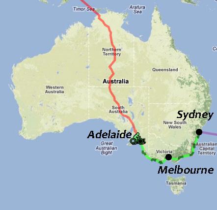 La côte Sud-Est d'Australie