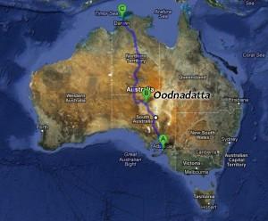 Notre route dans l'outback
