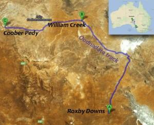 Notre itinéraire dans l'Outback