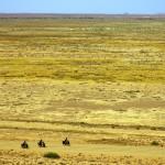 Seuls au milieu de l'Outback. Le soleil chauffe beaucoup et la piste est parfois dans un état lamentable, rendant notre progression pénible dans le sable. Siphay monte sur un immense relai téléphonique pour prendre ce cliché « vu du ciel » qui donne un aperçu de l'immensité de ce désert : des centaines et même des milliers de kilomètres hostiles.