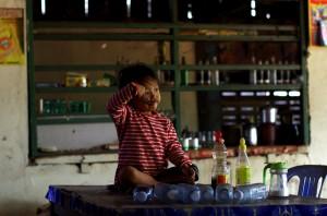Portrait d'un enfant au Cambodge