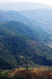 Des vues splendides sur les vallées agricoles