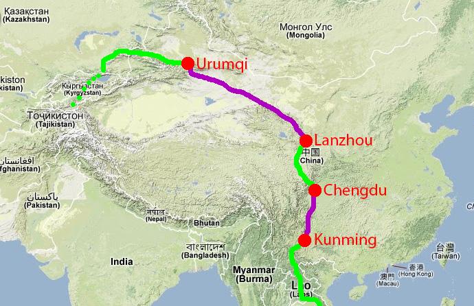 Notre itinéraire en Chine
