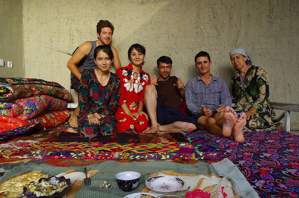 The Uzbek welcoming
